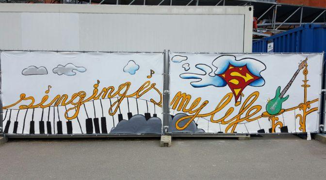 Das Graffito rund um die ZEA am Museum der Arbeit ist fertig