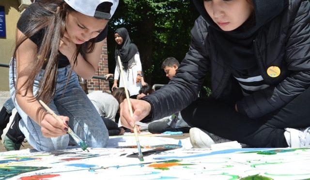 Paintbus meets ZEA Schülerinnen und Schüler