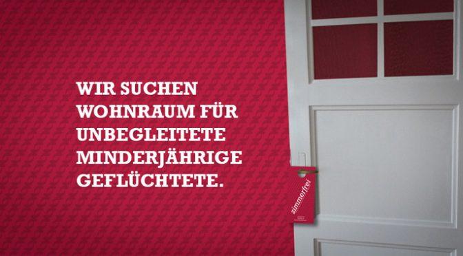 Zimmerfrei – Wir suchen Wohnraum für unbegleitete minderjährige Geflüchtete.